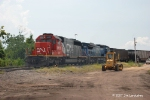 CN 6122 at the head of an mty coal train on the north end of the Loop at McDuffie Coal Terminal